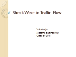 Shock Wave in Traffic Flow