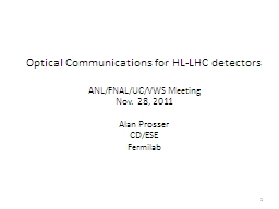 Optical Communications for HL-LHC detectors