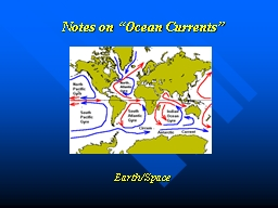 "Notes on ""Ocean Currents"""