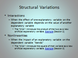 Structural  V ariations Interactions PowerPoint Presentation, PPT - DocSlides