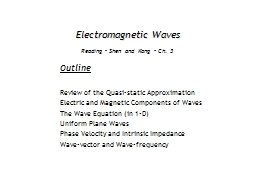 Electromagnetic Waves Outline