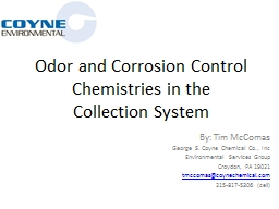 Odor and Corrosion Control PowerPoint PPT Presentation