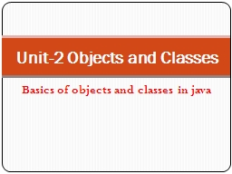 Basics of objects and classes in java