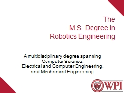The M.S . Degree in Robotics Engineering PowerPoint Presentation, PPT - DocSlides