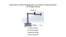 Optimization of Pallet Packaging Space and a Robotic SCARA Manipulator for Package Stacking
