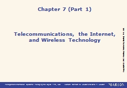 Telecommunications, the Internet,