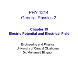 Engineering and Physics University of Central Oklahoma