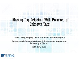 �Missing-Tag Detection With Presence of