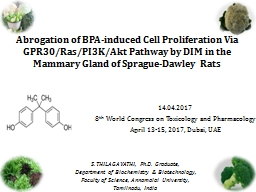Abrogation  o f BPA-induced Cell Proliferation Via GPR30/