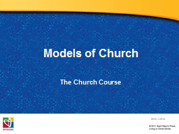 Models of Church The  Church Course PowerPoint PPT Presentation