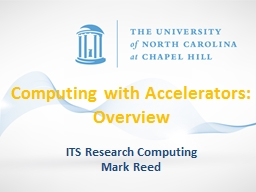 Computing with Accelerators:  Overview