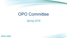 1 OPO Committee  Spring 2018