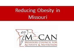 Reducing Obesity in Missouri
