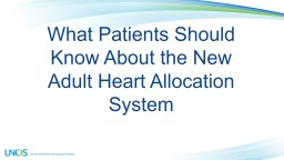 What Patients Should Know About the New
