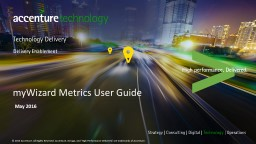 myWizard Metrics  User Guide