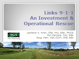 Links 9-1-1 An Investment & Operational Rescue