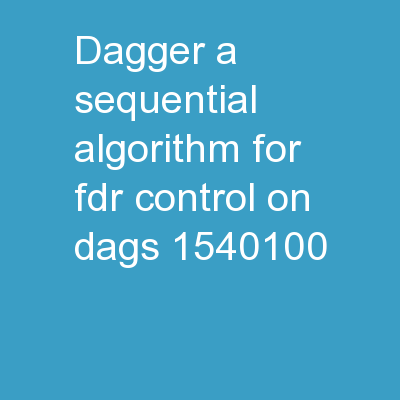 DAGGER:  A sequential algorithm for FDR control on DAGs