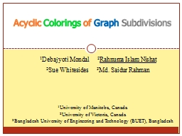 Acyclic  Colorings  of  Graph PowerPoint Presentation, PPT - DocSlides
