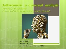 Adherence: a concept analysis