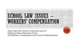 School law issues – workers' compensation