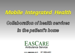 Acute Community Healthcare: Mobile Integrated Health