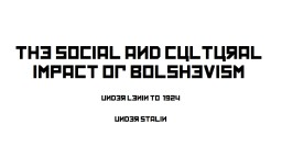 The  social and cultural