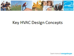 Key HVAC Design Concepts PowerPoint PPT Presentation