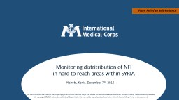 Monitoring NFI distributions PowerPoint PPT Presentation