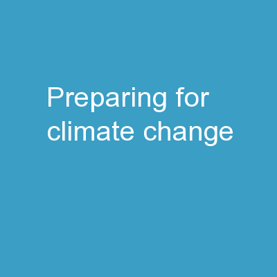 Preparing for Climate Change