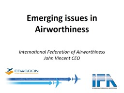 Emerging issues in Airworthiness