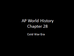 AP World History Chapter 28 PowerPoint PPT Presentation