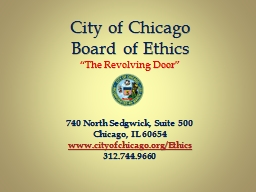City of Chicago  Board of Ethics