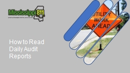 How to Read Daily Audit Reports
