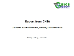 Report  from  CNSA 16 th