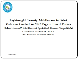 Lightweight Security Middleware to Detect