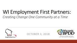 WI Employment First Partners: