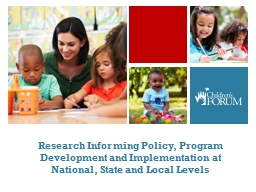Research Informing Policy, Program Development and Implementation at National, State and Local Leve PowerPoint Presentation, PPT - DocSlides
