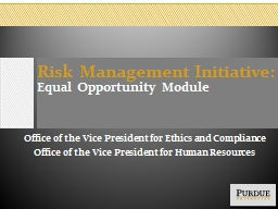 Title Slide Risk Management Initiative:
