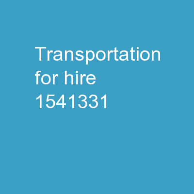 Transportation-for-Hire