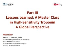 Part III Lessons Learned: A Master Class in High-Sensitivity Troponin