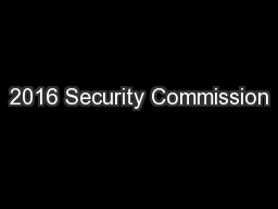 2016 Security Commission