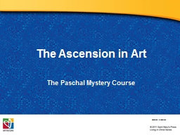 The Ascension in Art The Paschal