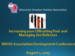 Increasing your Officiating Pool and Managing the Referees