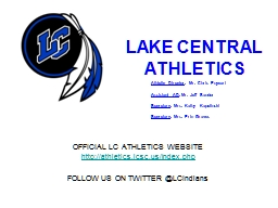 LAKE CENTRAL ATHLETICS OFFICIAL LC ATHLETICS WEBSITE