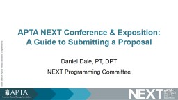 APTA NEXT Conference  & Exposition