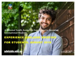 A Personal South Australian Experience for Incoming International Students