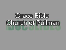 Grace Bible Church of Pullman