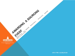 Awarding a sourcing event
