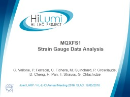 MQXFS1 Strain Gauge Data Analysis