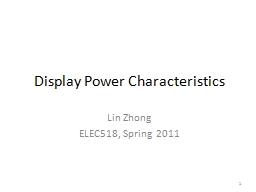 1 Display Power Characteristics